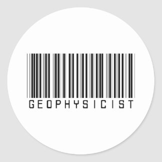 Geophysicist Bar Code Classic Round Sticker