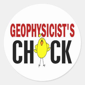 Geophysicist's Chick 1 Classic Round Sticker