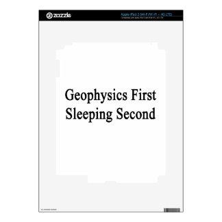 Geophysics First Sleeping Second iPad 3 Decals
