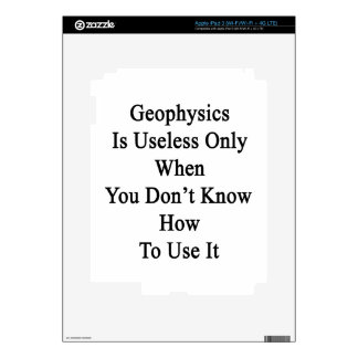 Geophysics Is Useless Only When You Don't Know How iPad 3 Skin