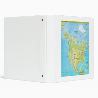 Geopolitical Map of North America 3 Ring Binder