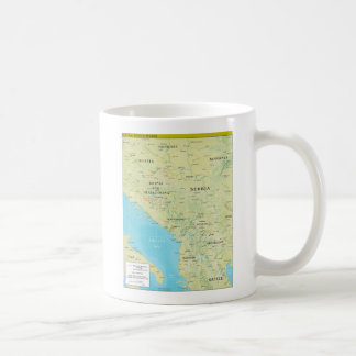 Geopolitical Map of the Central Balkans Coffee Mug