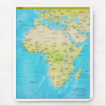 Geopolitical Regional Map of Africa Mouse Pad