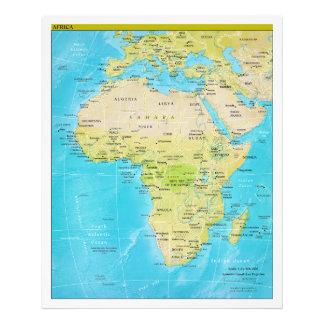 Geopolitical Regional Map of Africa Art Photo