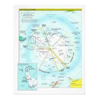 Geopolitical Regional Map of Antarctica Art Photo