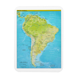 Geopolitical Regional Map of South America Magnet