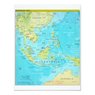 Geopolitical Regional Map of Southeast Asia Card