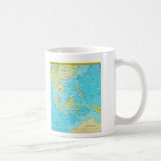 Geopolitical Regional Map of Southeast Asia Classic White Coffee Mug