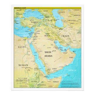 Geopolitical Regional Map of the Middle East Photo