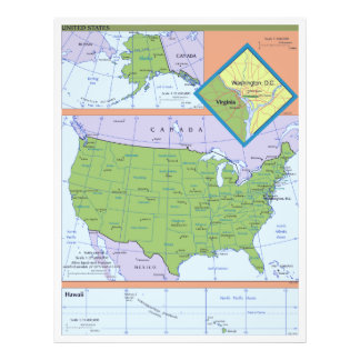 Geopolitical Regional Map of the United States Photograph