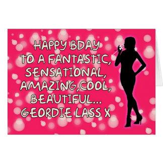 Geordie Birthday Card - Amazing Lass