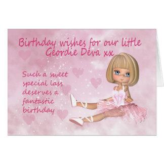 Geordie Birthday Card - Sweet Little Deva