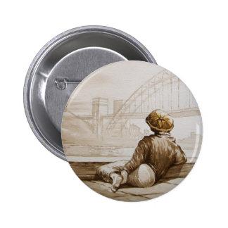 Geordie Daydream Button Badge