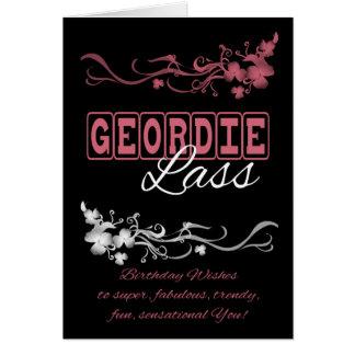 Geordie Lass Birthday Card with Blended Flowers