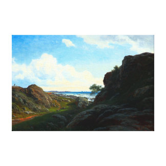 Georg Emil Libert Summer Day with Rocks near Sea Canvas Print