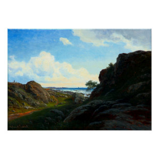 Georg Emil Libert Summer Day with Rocks near Sea Poster
