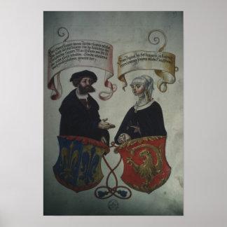 Georg Fugger his wife Regina Imhoff, 'Geheim Poster