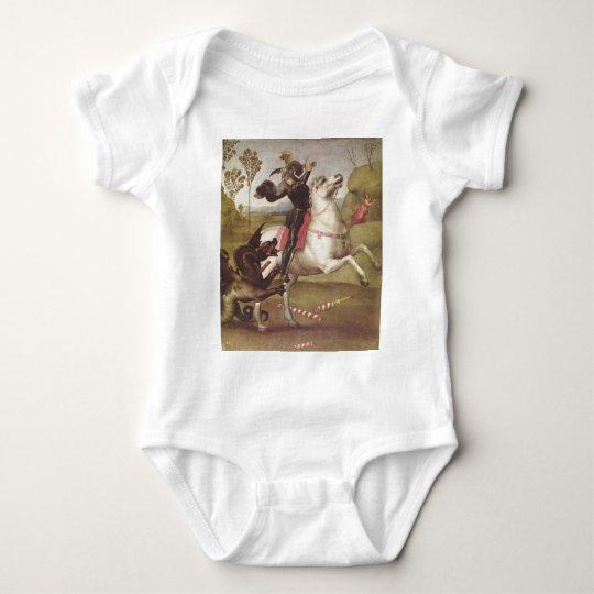 Georg im Kampf mit Baby Bodysuit