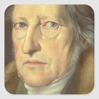 Georg Wilhelm Friedrich Hegel Pegatinas Cuadradas Personalizadas