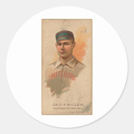 George 1888 F. Miller Pegatina Redonda