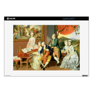 """George, 3rd Earl Cowper, with the Family of Charle 15"""" Laptop Decal"""
