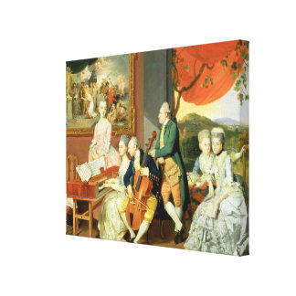 George, 3rd Earl Cowper, with the Family of Charle Canvas Print