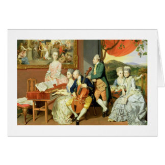 George, 3rd Earl Cowper, with the Family of Charle Card