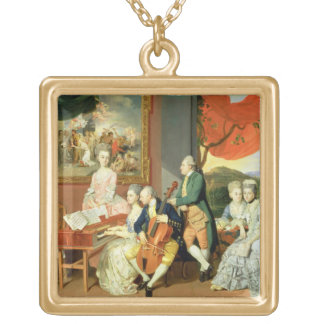 George, 3rd Earl Cowper, with the Family of Charle Gold Plated Necklace