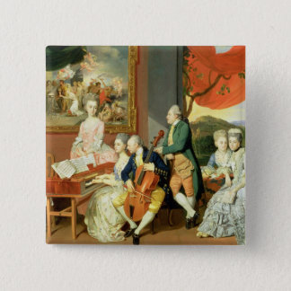 George, 3rd Earl Cowper, with the Family of Charle Pinback Button
