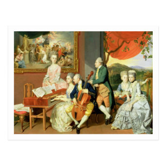 George, 3rd Earl Cowper, with the Family of Charle Postcard