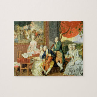George, 3rd Earl Cowper, with the Family of Charle Puzzles