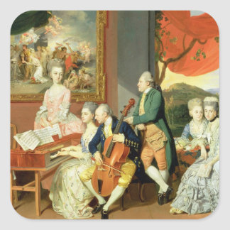 George, 3rd Earl Cowper, with the Family of Charle Square Sticker