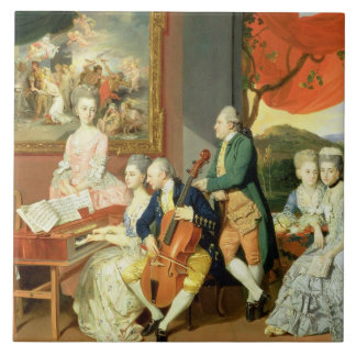 George, 3rd Earl Cowper, with the Family of Charle Tile