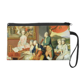 George, 3rd Earl Cowper, with the Family of Charle Wristlet Purse
