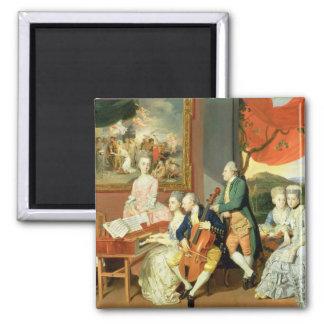 George, 3ro conde Cowper, con la familia de Charle Imán De Frigorifico