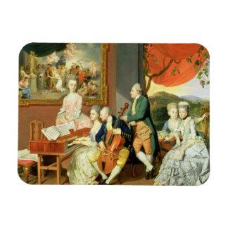 George, 3ro conde Cowper, con la familia de Charle Imanes