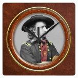 "George A. Custer 10,75"" Reloj De Pared"