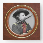 "George A. Custer 10.75"" Square Wallclock"