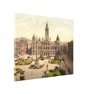 George ajusta Glasgow Escocia envolvió la lona Impresión En Lienzo Estirada