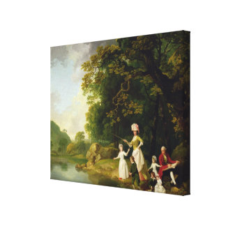 George and Mary Browne with their Five Elder Child Canvas Print