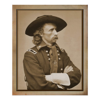 George Armstrong Custer 1876 Photograph Poster