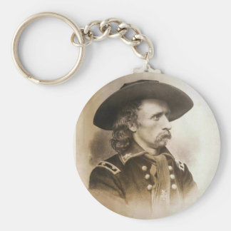 George Armstrong Custer circa 1860s Basic Round Button Keychain