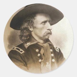 George Armstrong Custer circa 1860s Pegatina Redonda