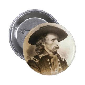 George Armstrong Custer circa 1860s Pin Redondo 5 Cm