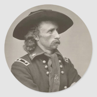 George Armstrong Custer Classic Round Sticker