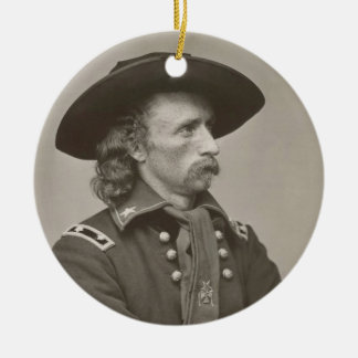 George Armstrong Custer Adorno Redondo De Cerámica