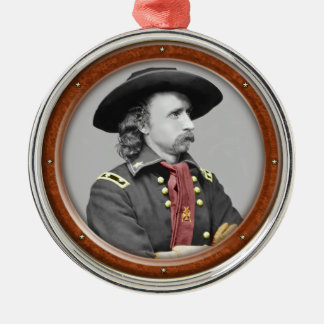 George Armstrong Custer Metal Ornament