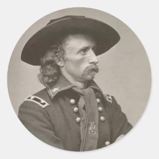 George Armstrong Custer Pegatina Redonda