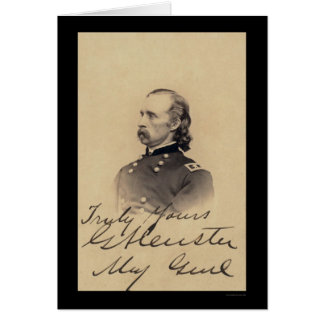 George Armstrong Custer Signed Card 1866