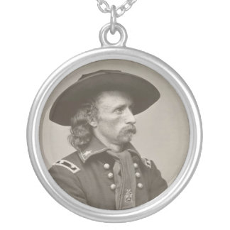 George Armstrong Custer Silver Plated Necklace